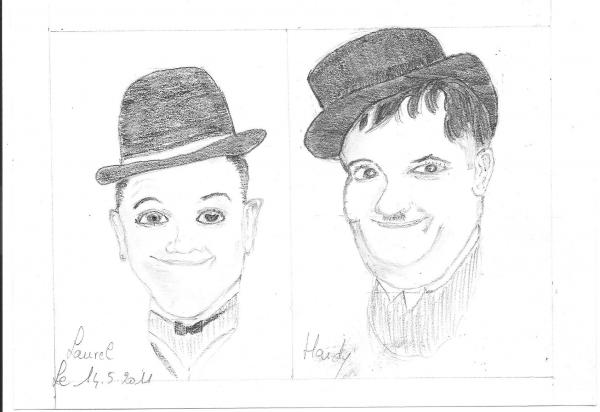 Stan Laurel, Oliver Hardy by miladye